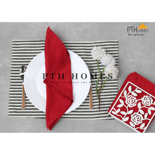 Red Table Napkins - Set of 6