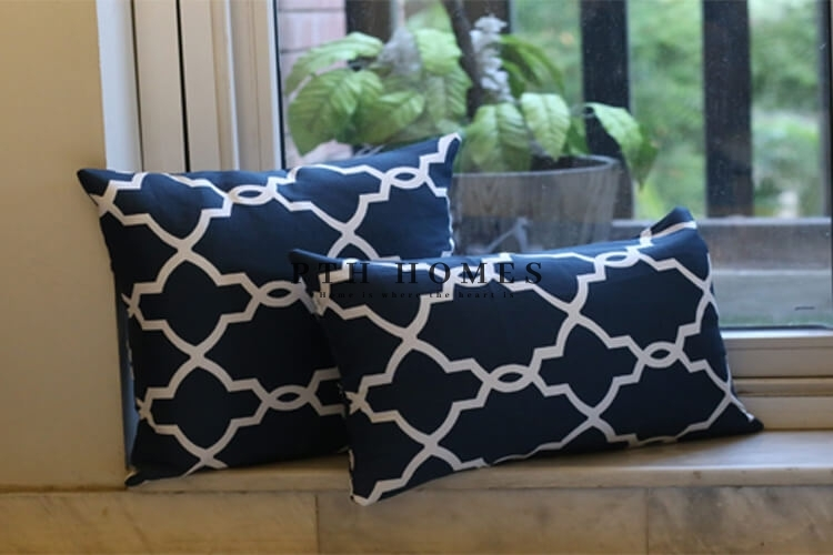 Navy Blue Moroccan - Cushion Covers
