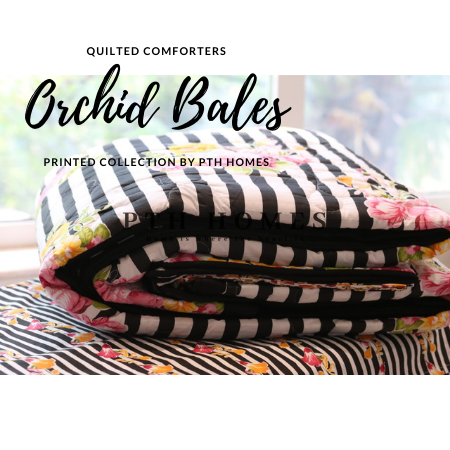 Orchid Bales - Quilted Comforter Set